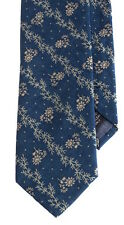 Men's Necktie Floral Western Chambray Tie Made w/ Polo Ralph Lauren RRL Fabric