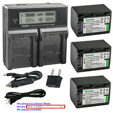 Kastar Battery LCD Dual Fast Charger for FV70 Sony HDR-CX400 HDR-CX410 HDR-CX430