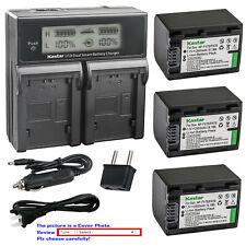 Kastar Battery LCD Dual Fast Charger for Sony DCR-DVD705 DCR-DVD708 DCR-DVD710