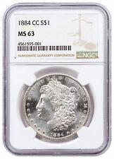 1884 CC $1 Morgan Silver Dollar NGC MS63 Mint State 63 DELAY