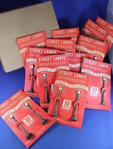 Plasticville - O/S LP-9 - Dealer Box Street Lamps - Original 12 Cards - Ex+++++