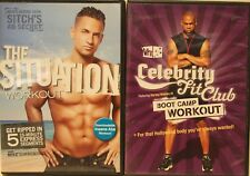 2 workout DVD lot the Situation Celebrity Fit Club bootcamp fitness exercise abs