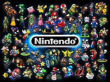 A4 Poster - SNES Gaming Characters (Picture Print Game Art Zelda Mario Mushroom)