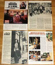AURORA BAUTISTA coleccion prensa 1970s fotos revistas clippings actriz cine