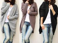 Neu Damen Strickjacke Cardigan Pulli Pullover Oversize Mantel 36 38 40 S M L