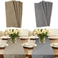 5×Burlap Table Runner Natural Jute Imitated Linen Rustic Wedding Party Table Dec