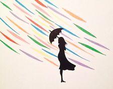 APRIL SHOWERS by Emo Raphiel Astoria signed art un modern Art banksy Eelus card