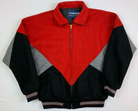 holloway red black gray usa made original college jacket wool bomber sz large