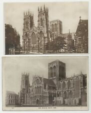 Two Postcards, York Minster, West Front & South York