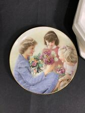 Princess Diana Collector Plate Flowers for Diana Danbury Mint Barry Morgen