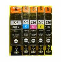 Genuine New 5-pack CANON PGI-225 Black CLI-226 B/C/M/Y Ink Cartridges