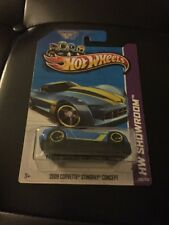 2012 Mattel Hotwheels 2009 Corvette Stingray Concept Blue New !