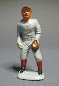 Vintage Original Auburn Rubber Baseball Player Game Figure - A1 Fielder