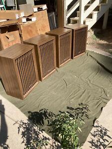 Complete Set of 4 Kenwood KL-777 Vintage 4-Way 6 Speaker System In Original Box