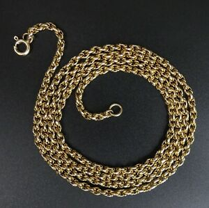 FINE 9 CT GOLD FANCY BELCHER LINK 67.5 CM CHAIN NECKLACE - 10.3 GRAMS