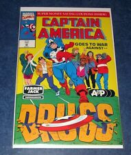 CAPTAIN AMERICA goes to war against DRUGS #1 A&P FARMER JACK variant promo 1992