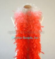 5I41 Red w Silver tinsel 65 Gram Chandelle Feather Boa 6 Feet Long Dancing Wedding Crafting Party Dress Up Halloween Costume Decoration