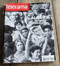 """*TELERAMA 03/2012*L' ALGERIE + guide spécial  formation """" métiers des 5 sens """""""