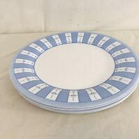Martha Stewart Everyday Blue White Garden Trellis France Dinner Plates (4)