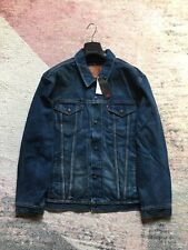 Authentic Levis Trucker Jacket Lined Blue Sized XXL