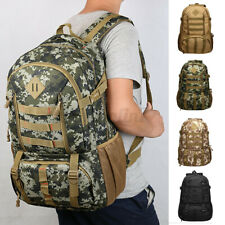 Military Tactical Rucksacks Waterproof Nylon Backpack Hiking Camping Bag 50L