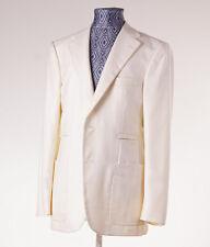 New $3995 D'AVENZA Ivory White Twill Cashmere-Silk Sport Coat 38 R Blazer