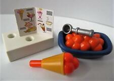 Playmobil DOLLSHOUSE/CAFE/shop Extras: crème glacée, Scoop, Cône & Menu NEUF