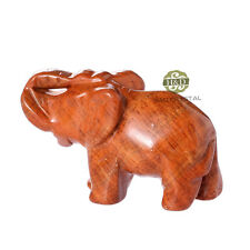 Fine Natural Stone Carved Stone Elephant Paperweight Feng Shui Home&Office Gifts