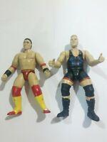 Lot Of 2 WWF WWE Wrestling Action Figures Owen Hart K. Shamrock Used