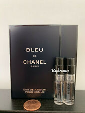2 x Chanel Bleu de Chanel EDP Pour Homme Spray 1.5ml / 0.05oz each
