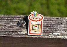 The Home Depot Kids Workshop Christmas Winter Snowman Metal Orange Pin Pinback