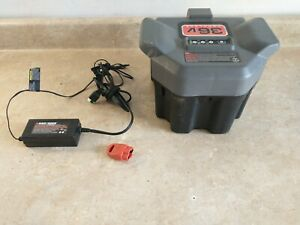 Black and Decker 36v LAWN MOWER Battery RB3612 PLUS CHARGER AND  KEY