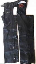 Hot Leather, Biker's Black leather pants with buckles, size L