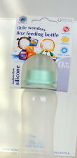 6 LOT BOXED 8oz BABY FEEDING BOTTLE BOTTLES MEDIUM FLOW SILICONE 0+