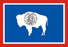 PREMIUM Autoaufkleber Wyoming Sticker Aufkleber fürs Auto Motorrad USA Amerika