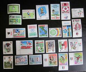 Lot 25 timbres Italie de 1973 à 2001 neufs ** Football - Bonne cote - Luxe