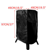 Black 37-Inch Durable Electric Smoker Zipper Cover Protects   ♬