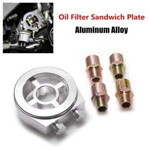 Oil Filter Cooler Sandwich Plate Adapter AN10 Fittings 3/4-16 UNF Fit For Nissan