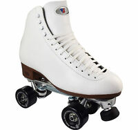 High Top Recreational Roller Skate Riedell 120 Raven Plus Size 4-13 Black White