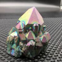 Colour Aura Quartz Crystal VUG Titanium Bismuth Silicon Cluster Rainbow 0.35lb