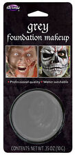 GREY Water Based Foundation Face Paint Makeup Halloween Fancy Dress Costume