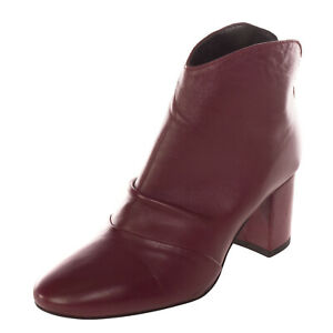RRP €115 FORMENTINI Leather Ankle Boots Size 37 UK 4 US 7 Heel Ruched Round Toe