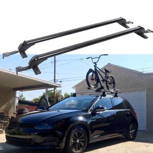 "For VW Golf Passat 43.3""Aluminum Car Roof Rack Luggage Carrier Cross Bar w/Lock"