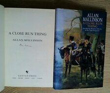 ALLAN MALLINSON SIGNED A CLOSE RUN THING 1/1/ UK HB/DJ 1999 APPEARS UNREAD RARE