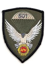 "FYR MACEDONIA - 501st BATTALION ""HAWKS"" WOODLAND CAMO UNIFORM PATCH -EMBROIDERED"