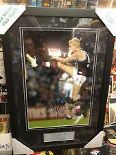 NICK RIEWOLDT HAND SIGNED FRAMED PHOTO ST. KILDA FOOTBALL CLUB - FULL COA. AFL