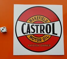 "CASTROL Wakefield Motor Oil Sticker Decal Approx 5.5"" round 7-10 year vinyl"