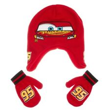 Disney Toddler Boys Cars Peruvian Hat & Mittens Set One Size New