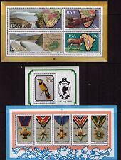 South Africa 1990 Miniature sheet lot of 3