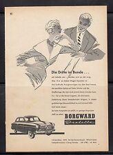 3w254/ Alte Reklame - von 1956 - BORGWARD Isabella
